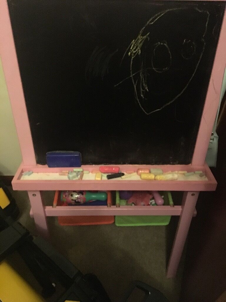 Girls pink chalk board
