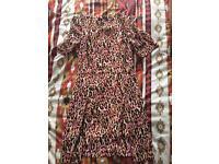 River Island Leopard Dress Size 10