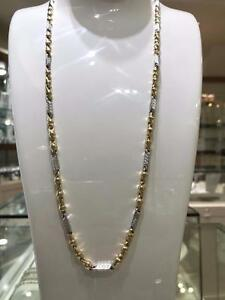 2 Tone 10k Gold Versace Chaine 26 inches 4.80 mm 17.2 gr