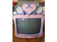 Girls pink disney tv.