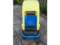 A plastic toy sit in car - for outdoors