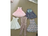 Girls dresses & jumpsuit 12-18 months