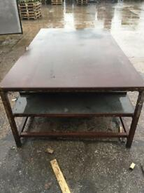 Industrial work bench, large solid industrial work table