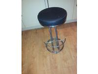 Kitchen chrome bar stool