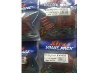 50 x RED WALL PLUGS + 50 X SCREWS
