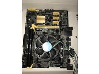 Intel g1840 + h81m-plus mini atx + 8 GB ddr3 perfect for 4 gpu mining kit