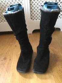 Roberto Vianni Black Boots ladies size 7