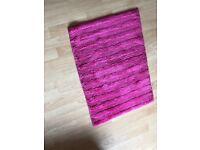 Pink Bathroom rug