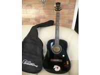 Acoustic Kiss Guitar and carry case