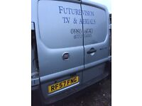 Fiat Scudo 2007 rear doors in silver
