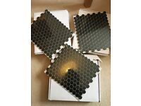 Brand New Hexagon Shapes Matt Black Tiles
