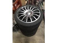 """4x100 or 4x108 17"""" alloy wheels"""