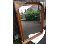 Large Full Length Floor / Wall Mirror with pine frame
