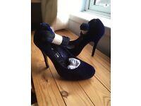 Ladies Blue Stilletto shoes size 6