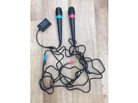 PlayStation 2 Singstar Microphones and USB Interface Cable