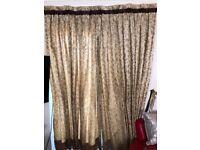 Delicate golden curtain