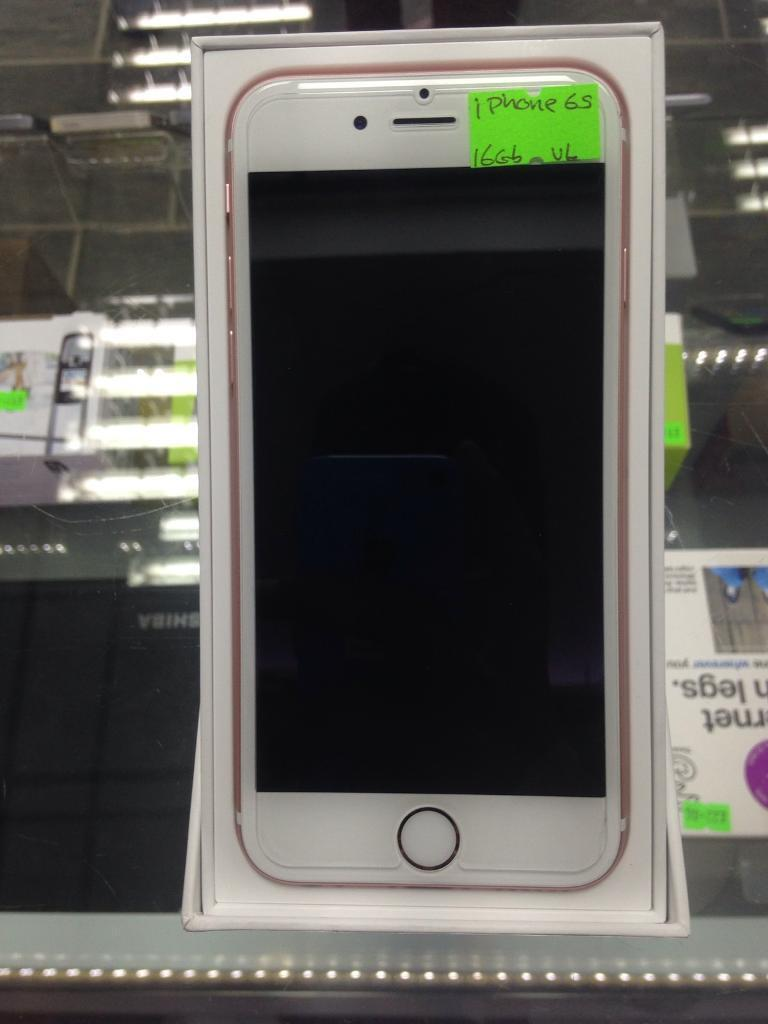 iPhone 6S Rose Gold 16Gb unlockedin Salford, ManchesterGumtree - iPhone 6s Rose Gold Unlocked 16gb, with accessories and box, Collection from Easy Connect Phone Shop