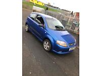 2006 CHEVROLET KALOS 1.2 3DR ONLY DONE 42KMILES 6 MONTH MOT FULL SERVICE HISTORY ONLY £650