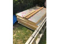 Two Celetex Insulation Sheets- 2400 x 1200 x 100