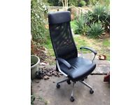 Swivel chair MARKUS Glose black -