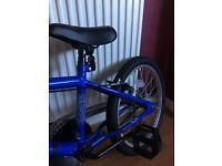 New bmx snare bike blue