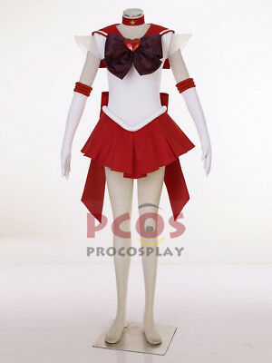 Ready Ship~ Best Sailor Moon Super S Mars Rei Hino Raye Cosplay Costume