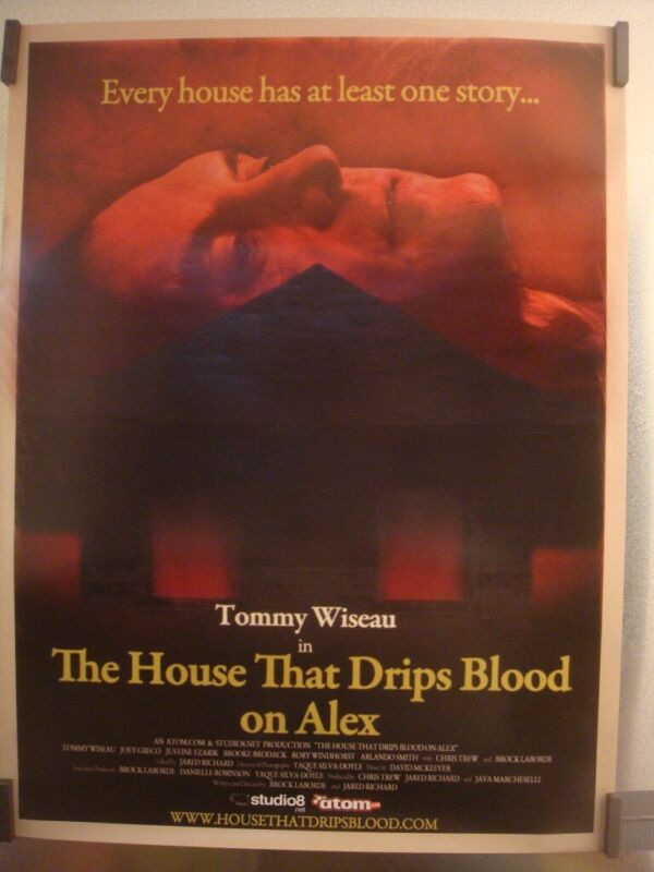 THE HOUSE THAT DRIPS BLOOD ON ALEX Original Promo Poster SDCC 2010 Tommy Wiseau
