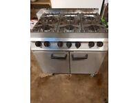 Falcon Dominator 6 Burner Gas Commercial Cooker Cooking Range