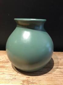 Green China ceramic vase plant pot Christmas decoration