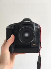 Canon 1ds Mark 2 ii digital DSLR SLR with 50mm 1.8 lens