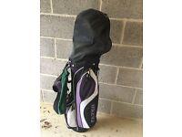 Ladies half set of golf clubs and bag