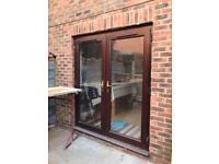 Patio door and kitchen window