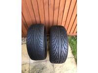 2x Nankang tyres 225x30x20 Good condition - 5/6mm tread