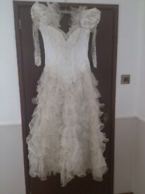 wedding dress ,with 7ft train