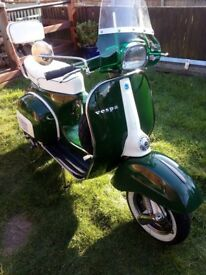 Vespa 150 super with Rally 200 engine for sale