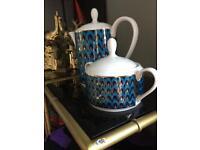Pied a Terre new tea pot and sugar bowl