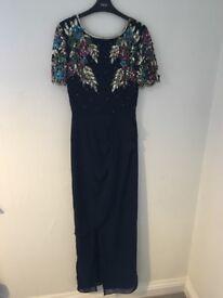 Navy blue, sequin embellishment dress