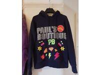 Pauls boutique navy hoodie