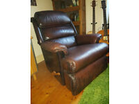 Vintage Quality Leather Armchair Recliner