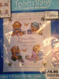 Cross stitch sampler kit - still for sale
