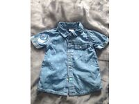 Boys 6-9months denim shirt