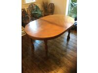 Heavy Oak Coloured Dining/Banquet Table
