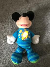 Talking Mickey Mouse plush toy