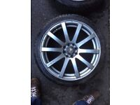 "Inovit Racing KE10 17""x7J Alloys 4x100/4x108 multi-fit from Renault Clio 172"