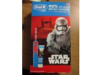 Oral B Kids Star Wars and Frozen themed electric toothbrush