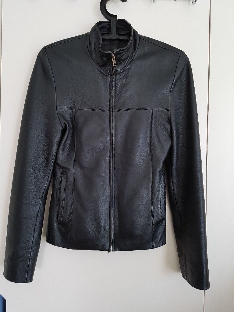 Leather Black jacketin Croydon, LondonGumtree - Black leather jacket very good leather quality. It was custom made for me when younger. Now it is too small. Original price was £300. Size is equal to XS to S. Can send more info if interested