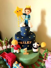 Character birthday cakes, Disney princess, Minnie Mouse, Thomas, Peppa, Night garden etc