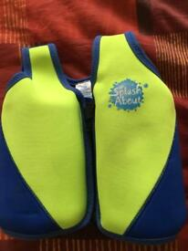 Splash about adjustable bouyancy float jacket