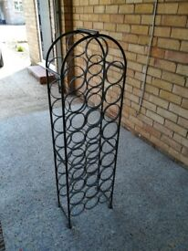 Vintage Wrought Iron Wine Rack