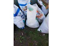 6 bags 40mm plum slate roughly 20kg in each bag